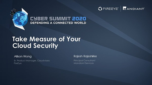 Take Measure of Your Cloud Security