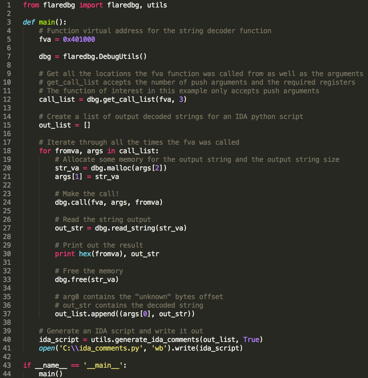 FLARE Script Series: Automating Obfuscated String Decoding