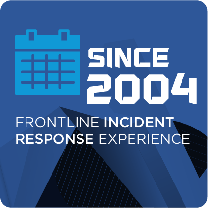 Over 13 years of front line incident response experience