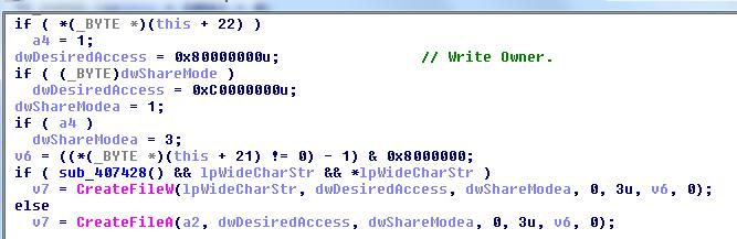 Figure 2. Code creating the file.