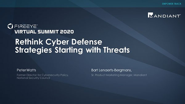 Rethink Cyber Defense Strategies by Starting with Threats