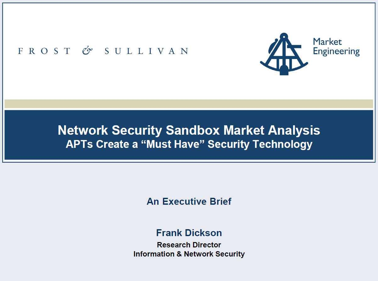 Frost & Sullivan Advanced Malware Sandbox Market Analysis